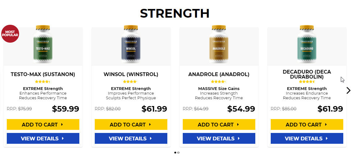 Strong supplement shop stacks